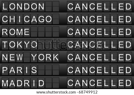 Canceled flights - stock photo