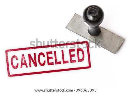 cancelled text sign label stamp. - stock photo