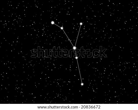 Cancer constellation - stock photo