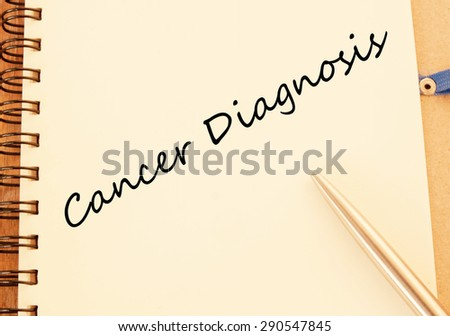 Cancer diagnosis concept  - stock photo