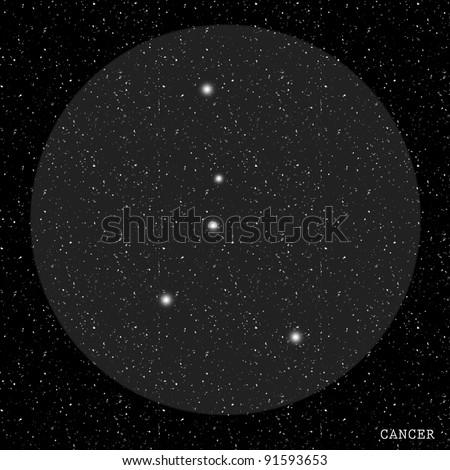 Cancer Zodiac Constellation - stock photo