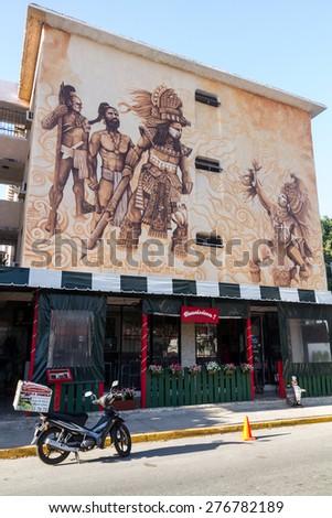Cancun, MEXICO - March 27, 2015: House in Cancun, Yucatan - stock photo