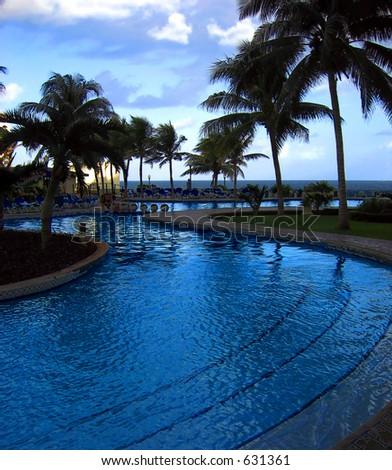Cancun resorts offer an ocean paradise - stock photo