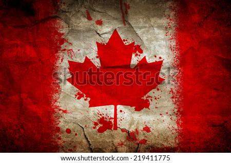 Canda flag - stock photo
