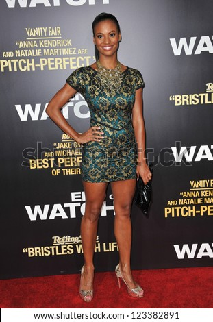 "Candace Smith at the premiere of her movie ""End of Watch"" at the Regal Cinemas LA Live. September 17, 2012  Los Angeles, CA Picture: Paul Smith - stock photo"