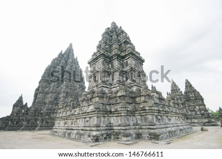 Candi Prambanan  in  Central Java Indonesia - stock photo