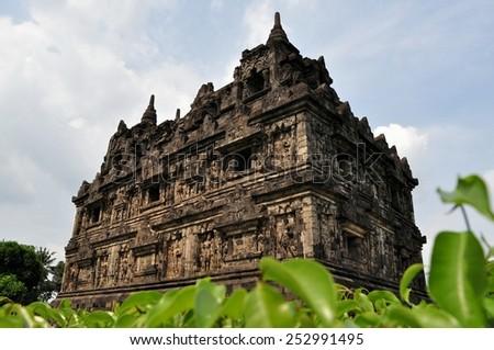 Candi Sari Buddhist temple Yogyakarta, Indonesia - stock photo