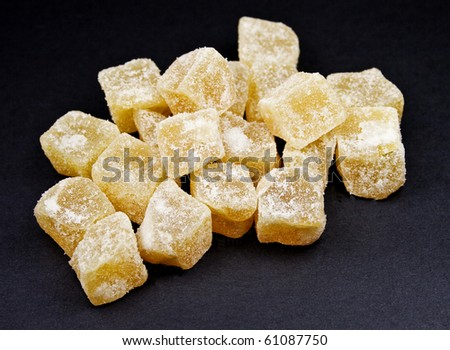 Candied Ginger Cubes