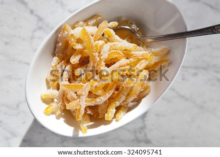 Candied Orange Peel - stock photo