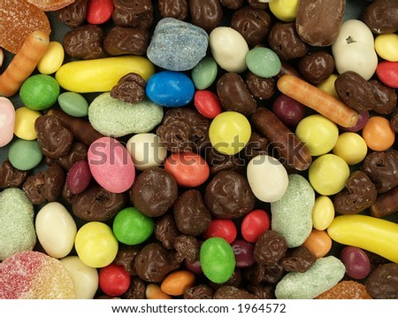 Candies as a background one, close-up - stock photo
