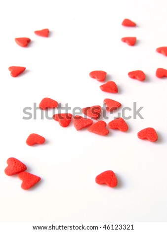 candies heart - stock photo