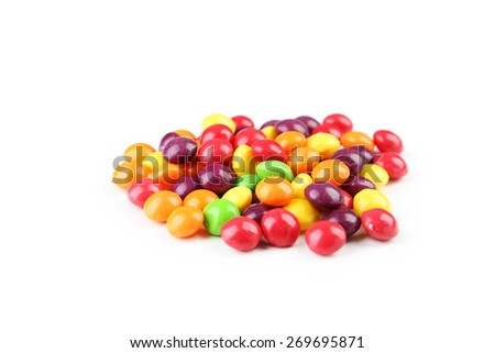 Candies isolated on white - stock photo