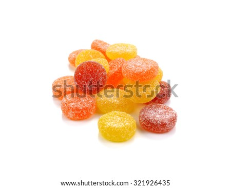 candies. jelly candies on a background. jelly candies on white - stock photo