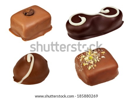Candies made of chocolate. . File contains clipping path - stock photo