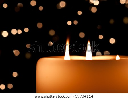 candle aglow