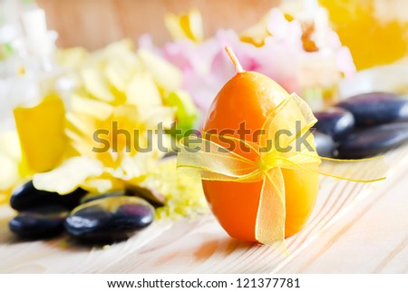 candle and objects for SPA - stock photo