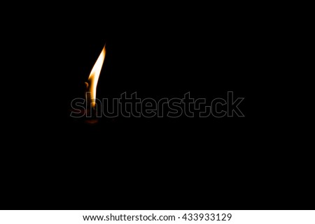 candle burning  in the black background