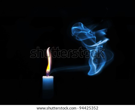 Candle in the wind - stock photo