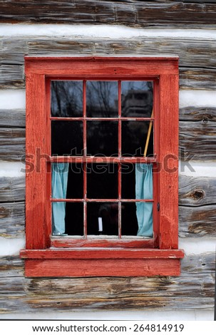 Candle in the window - stock photo