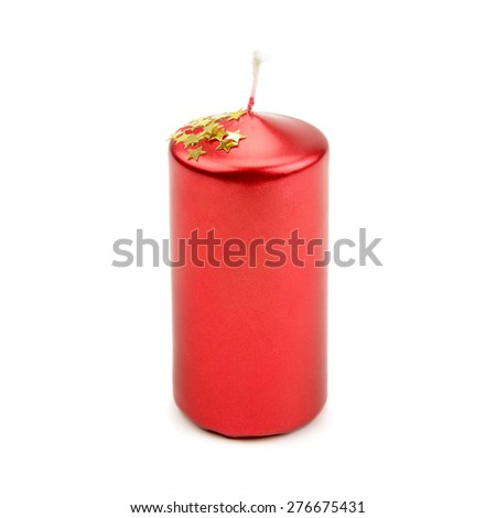 candle isolated on a white background - stock photo