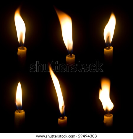 Candle light - stock photo