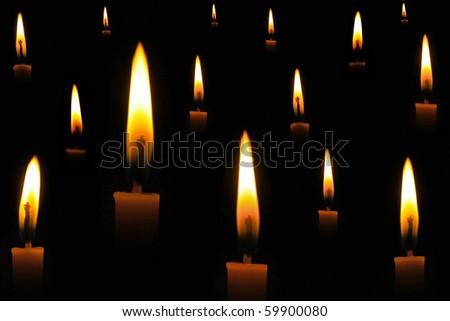 Candle light - stock photo