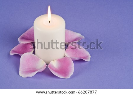 Candle Light and Rose Pedals