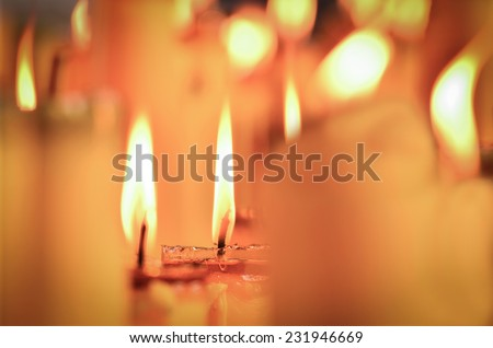 Candle light, Candle flame background for New year card design - stock photo