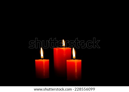 Candle Light Flame - stock photo