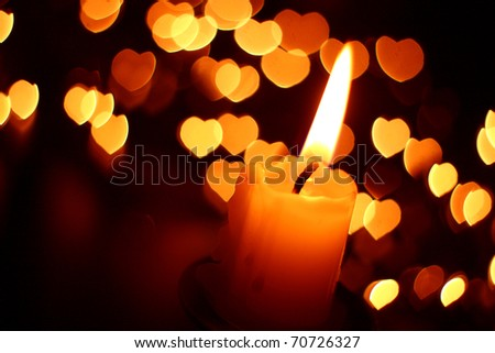 Heart Candles Candle Light Heart Shaped