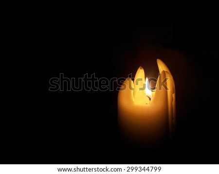 Candle. Special shape, four pointed. - stock photo