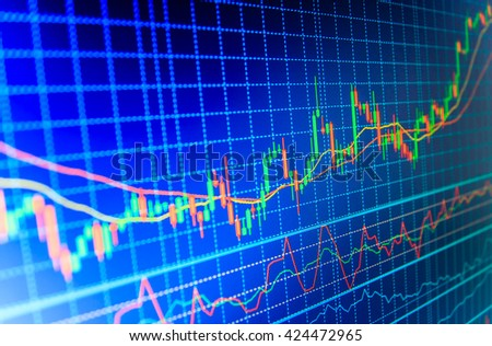 3D Background Image Business Stock Market Stock Illustration