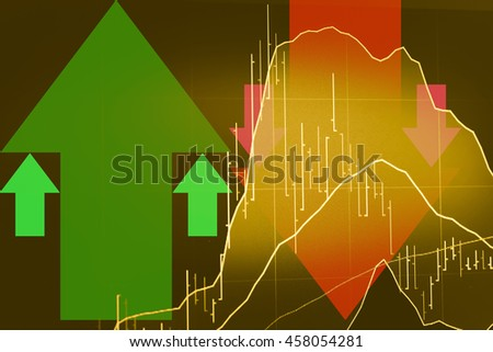 Candle stick graph chart of stock market investment trading. Trading&analysis of Forex graph, Forex trading, Forex market, and Forex education. This is a digital information represent via chart.