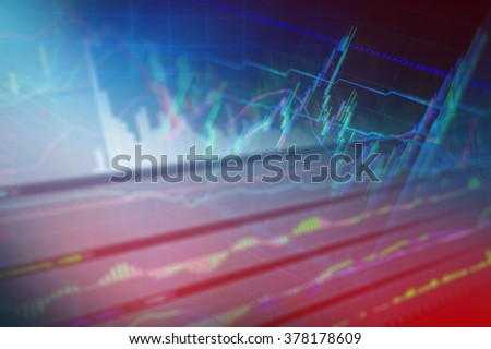 Candle stick graph chart of stock market.jpg - stock photo