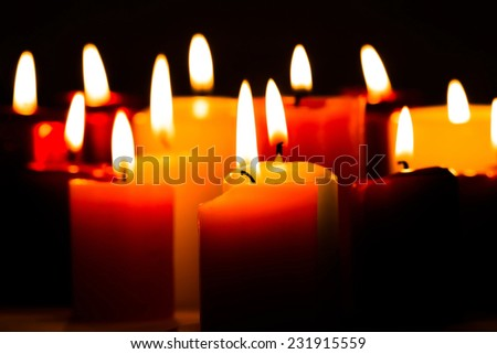 Candlelight Flame - stock photo