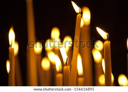 candles background - stock photo