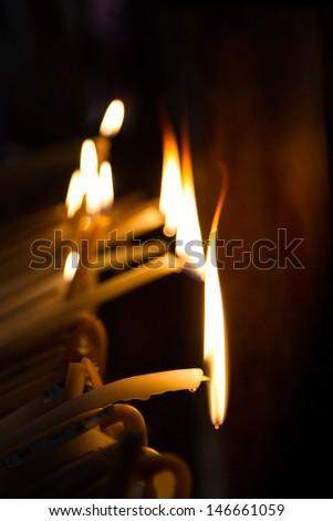 Candles burning - stock photo