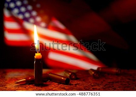 Christmas Flag Lights Stock Images Royalty Free Vectors Candles Remembering
