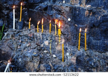 candles for wish - stock photo