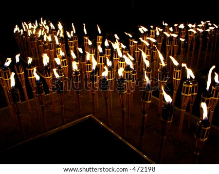 candles forming a cross - stock photo