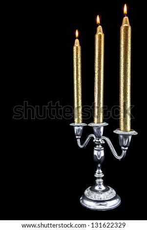 Candles in Silver Candelabra
