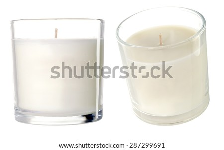 Candles on a white background. Photo - stock photo