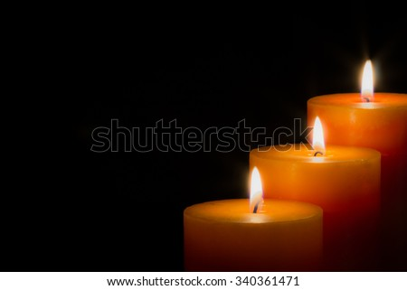 candles with black background