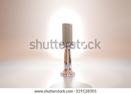 candlestick with candles/ massive candlestick
