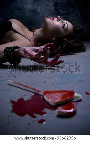 Candy addict - stock photo