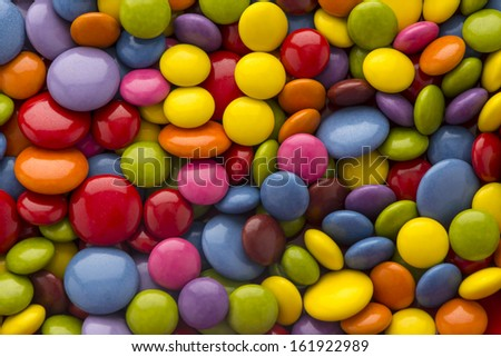 Candy background colorful - stock photo