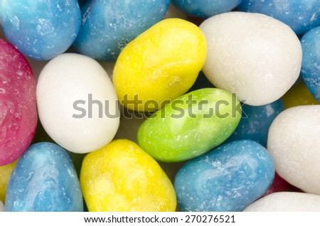 Candy background, multicolored pebbles stone sweet raisins glaze - stock photo