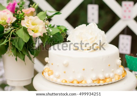 Candy Bar Delicious Sweet Buffet Cupcakes Stock Photo & Image ...