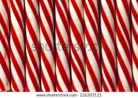 Candy cane background, Christmas background with candie cane texture, retro new year theme - stock photo