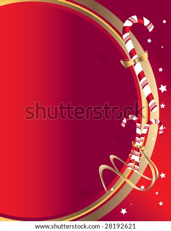 Candy cane background 3 - jpg version - stock photo